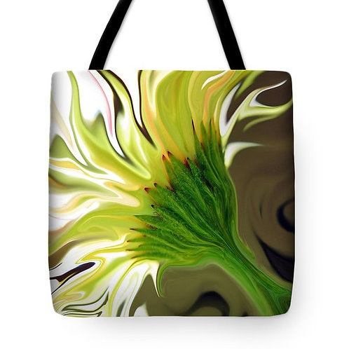 abstract yellow Gerbera daisy tote bag by Suzy 2.0