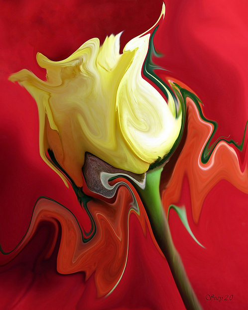 Abstract yellow rose fine art print by Suzy 2.0