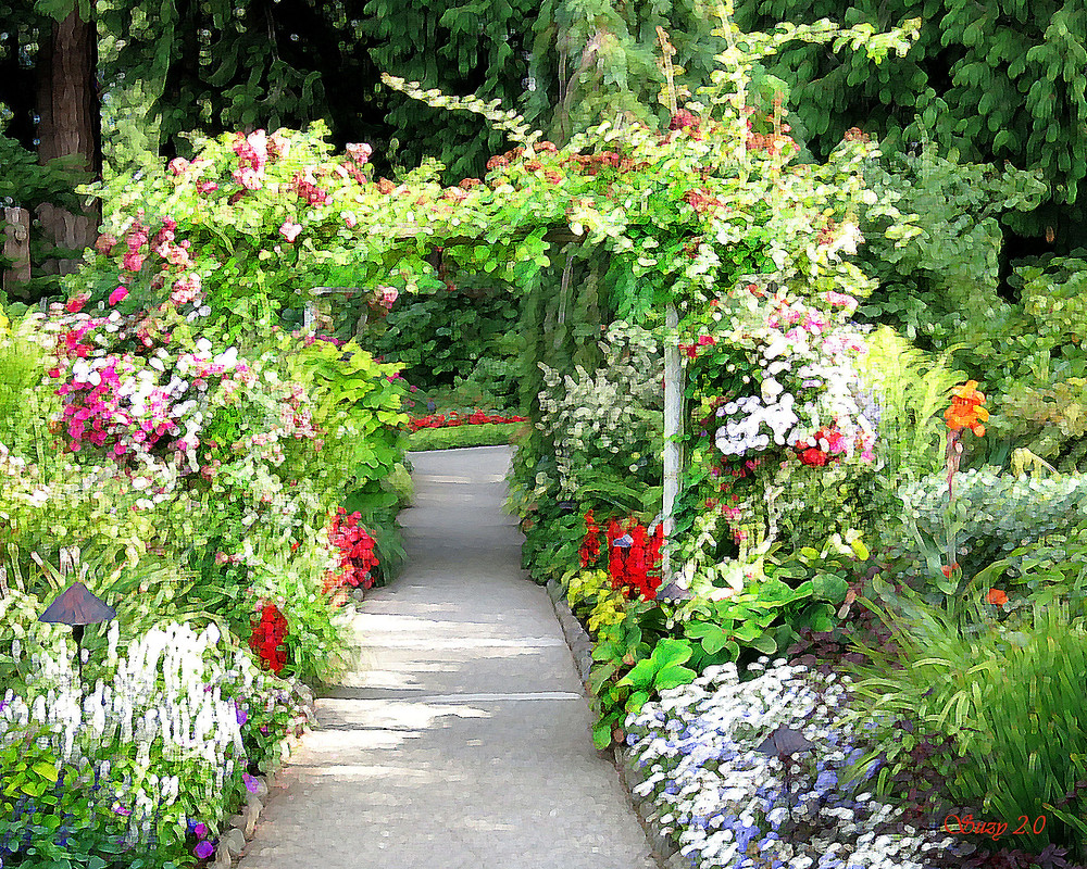Rose Garden Entrance at Butchart Gardens by Suzy 2.0
