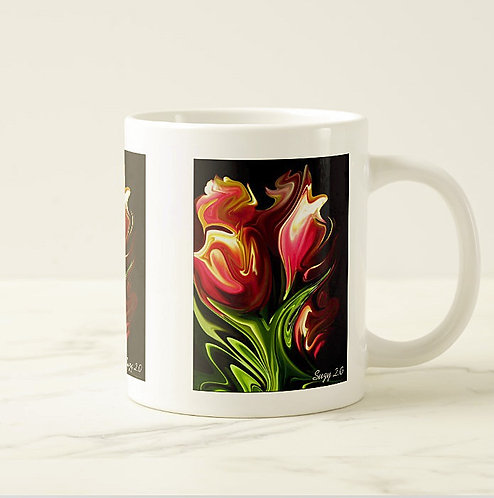 Suzy 2.0 Classy Ladies Abstract Tulip Mug Right