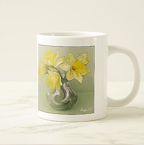 Suzy 2.0 Danse d'or Abstract Daffodil Mug Right