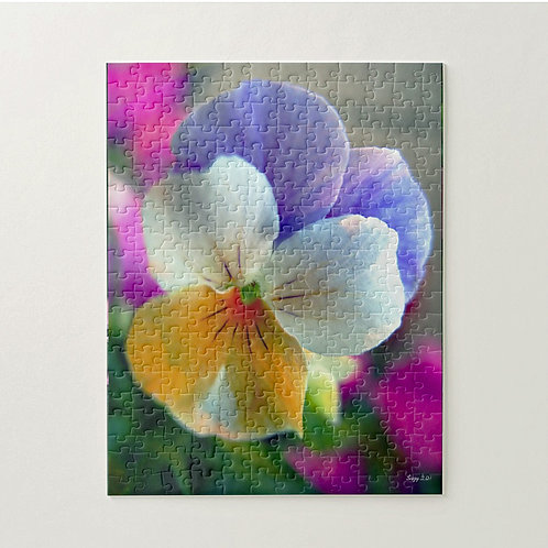 Multi-colored pansy puzzle by Suzy 2.0