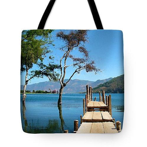 Impressionistic Lake Atitlan Guatemala tote bag by Suzy 2.0