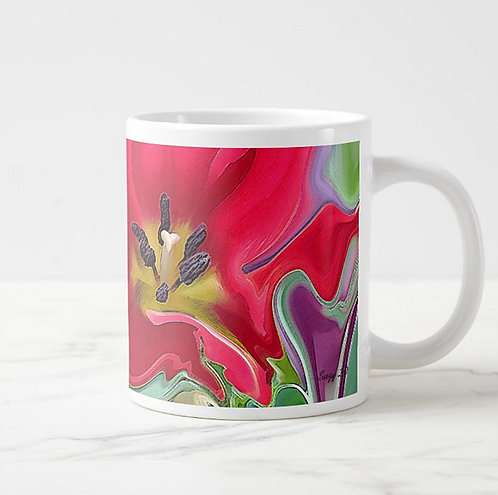 Suzy 2.0 Fresh Faced Abstract Tulip Mug Right