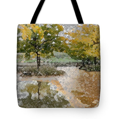 Impressionistic fall foliage tote bag by Suzy 2.0