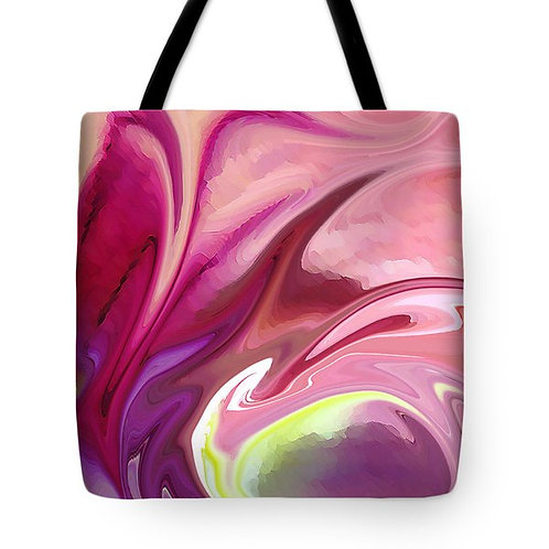 pink abstract tote bag by Suzy 2.0