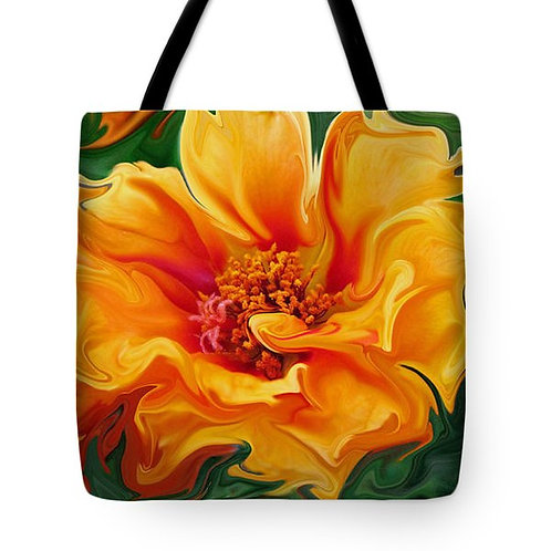 abstract orange moss rose tote bag by Suzy 2.0