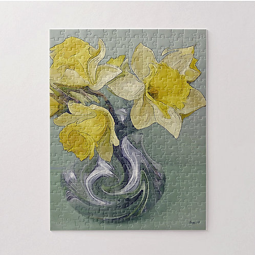 Abstract daffodil bouquet puzzle by Suzy 2.0