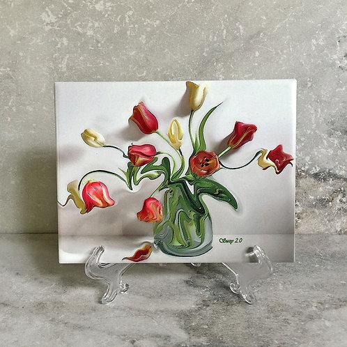Swing Your Partner Floral Tile