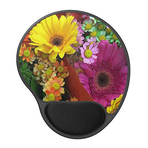Painted Shades of Happiness - Flower Gel Mouse Pad