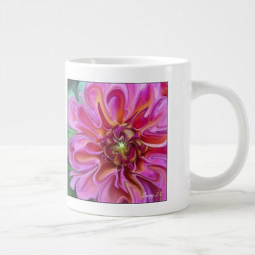 Suzy 2.0 Garden Candy Abstract Dahlia Mug Right