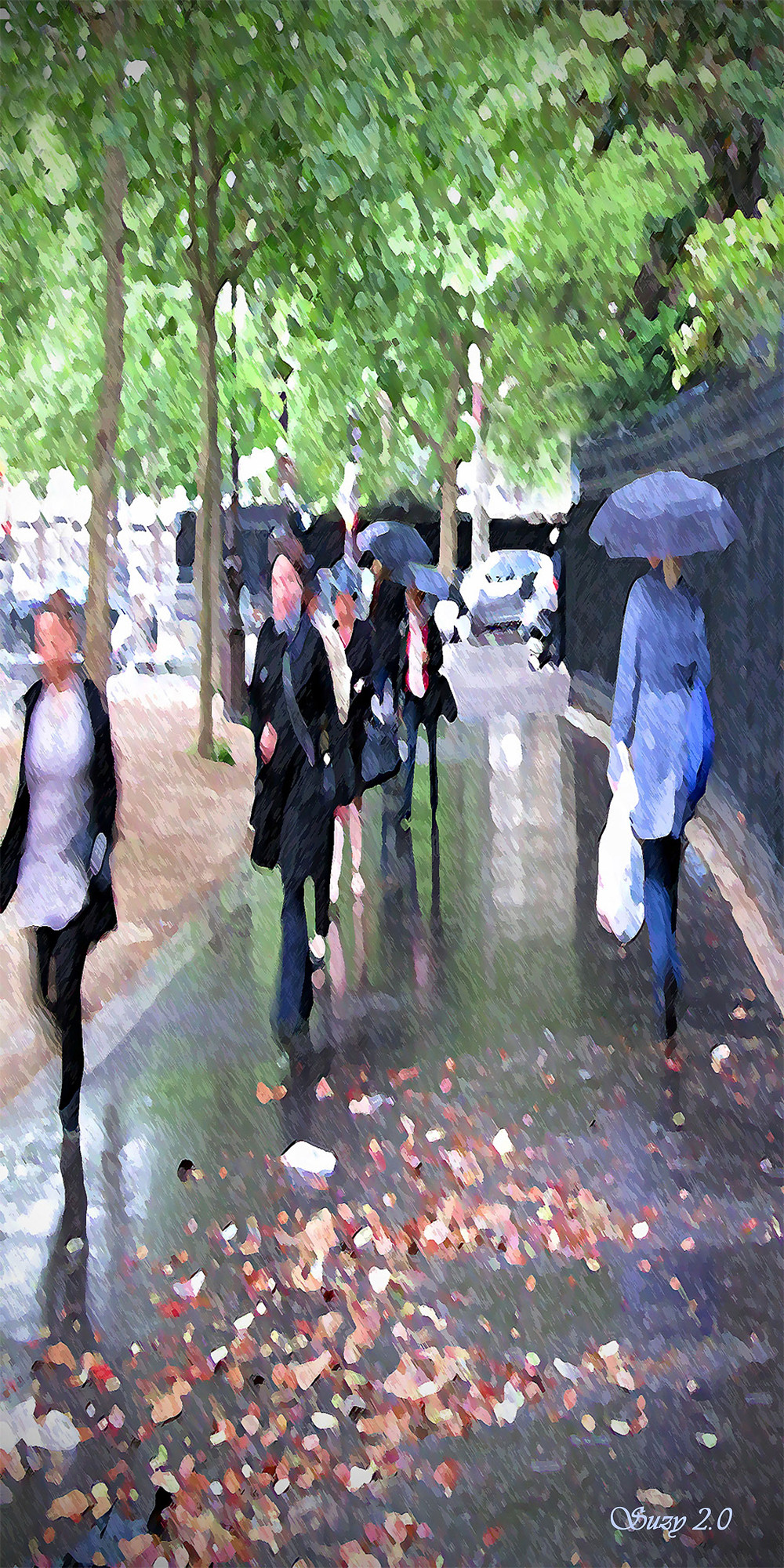 """Morning Commute""; Impressionistic creation from Paris by Suzy 2.0"