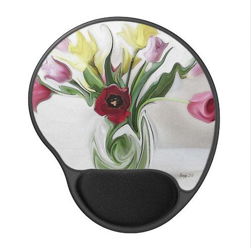 Viennese Waltz - Flower Gel Mouse Pad