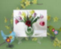"""""""Viennese Waltz"""" Floral Tile"""