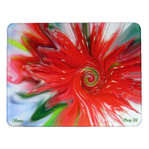 Abstract Bottle Brush Flower Cutting Board by Suzy 2.0