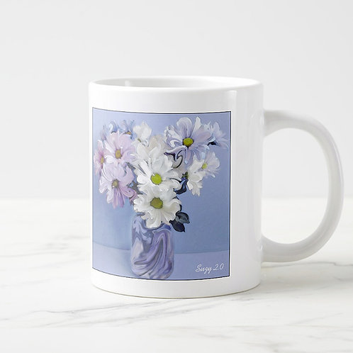 Abstract daisy bouquet mug by Suzy 2.0 right