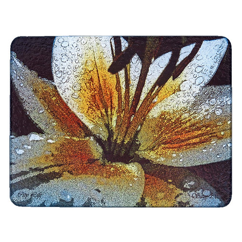 Yellow Abstract Asiatic Lily Cutting Board by Suzy 2.0