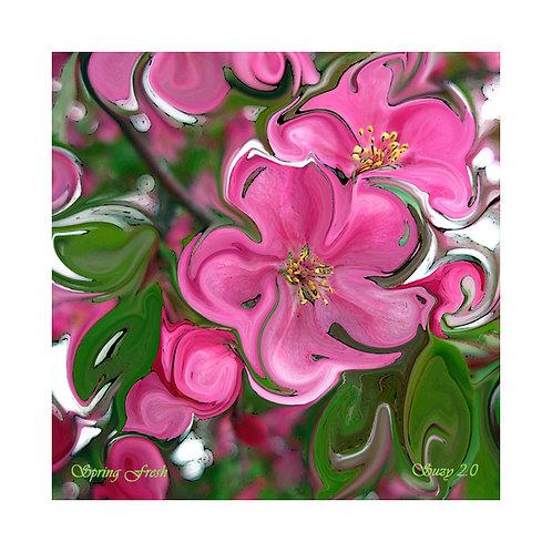Spring Fresh Floral Tile