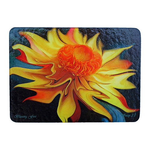 Abstract Strawflower Cutting Board by Suzy 2.0