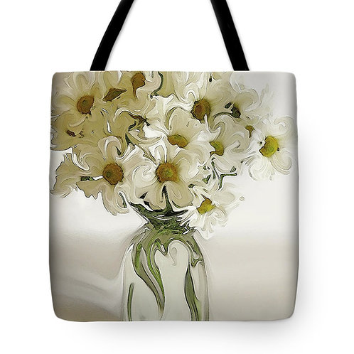 Abstract daisy tote bag by Suzy 2.0