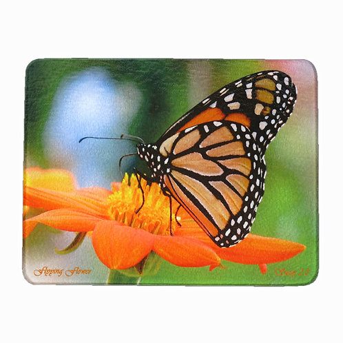 Monarch Butterfly and Orange Zinnia Cutting Board by Suzy 2.0