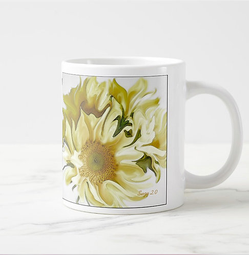 Abstract sunflower bouquet mug by Suzy 2.0 right