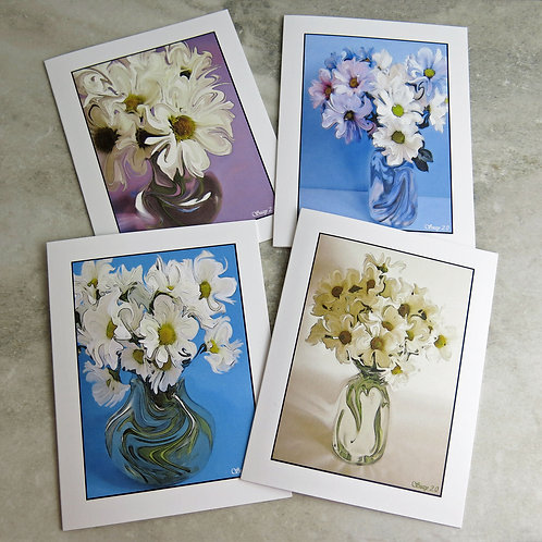 Dancing Botanicals #4 - Flower Note Cards