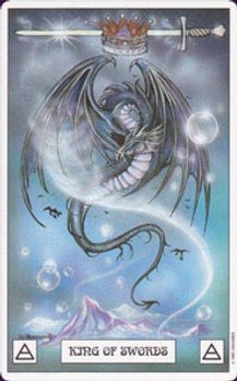 King of Swords Dragon Tarot Card