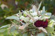 menyasszonyi csokor búzával