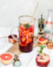 Sparkling Strawberry Champagne Sangria -