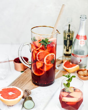 Sparkling Strawberry Champagne Sangria -