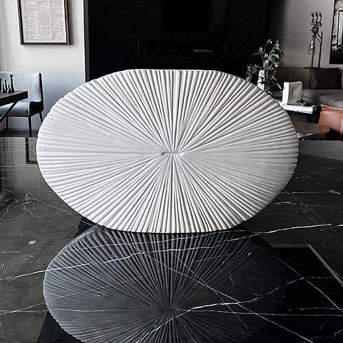 Florero Blanco Oval