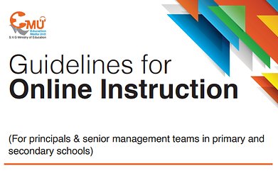 Guidlines for Online Instruction -Heads.