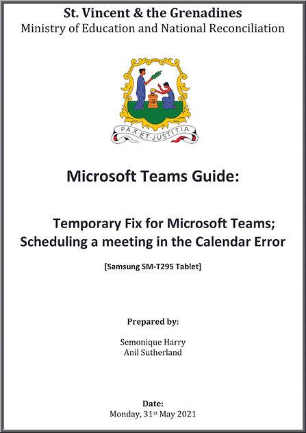Microsoft Teams Guide - Temporary Fix fo