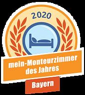 Vermieter des Jahres auf mein-Monteurzimmer in Bayern.