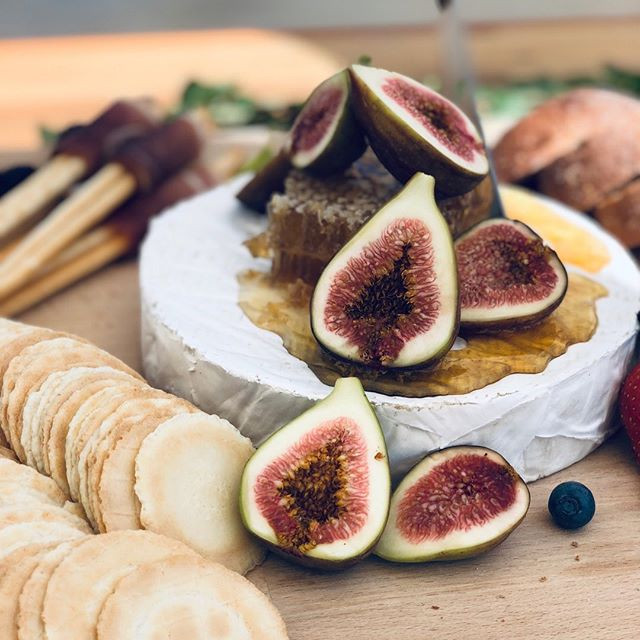Figs, honeycomb and brie cheese are one