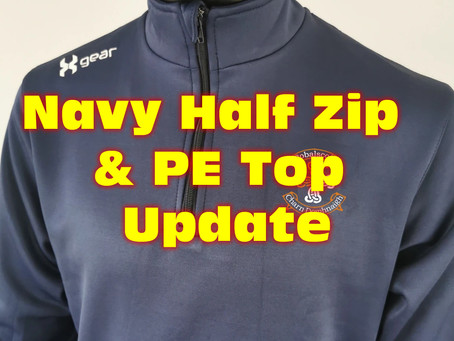 Updated Information re Navy Half Zip and PE Top ordered from XGear in July