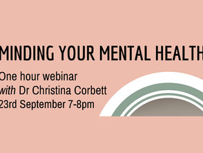 Minding Your Mental Health (Webinar)