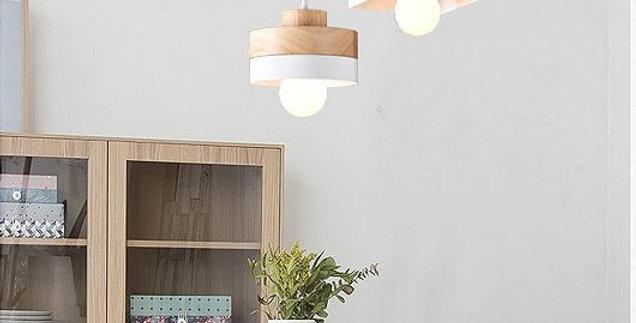 North European Style LED Wood Pendant