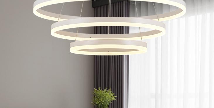LED Multi Halo Pendant Light