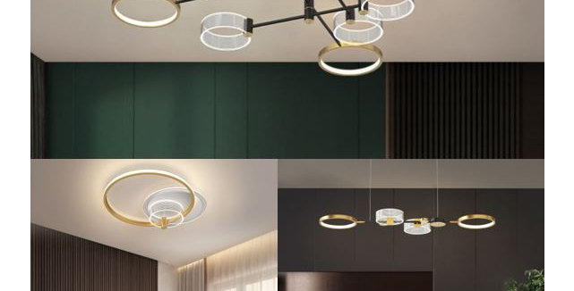 LED Luxury Gold Theme for One Bedroom Flat