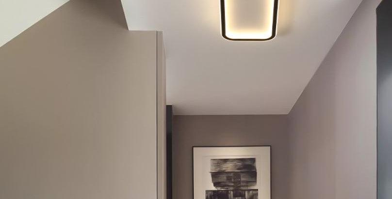 LED Simple Modern Ceiling Light Black+White 2