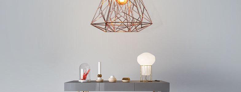 LED Bird Net Design Metal Cloth Pendant Light