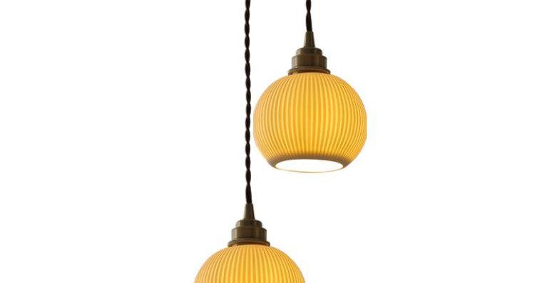 LED Retro Ceramic Pendant