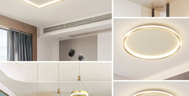 LED Gold Minimalism Theme for Three Bedrooms Flat