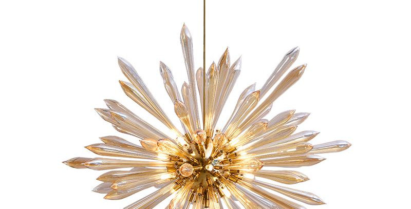 LED Modern Dandelion Glass Tube Chandelier