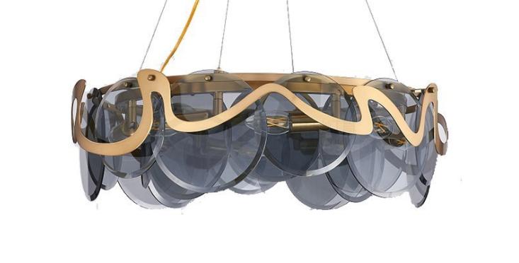 LED Modern Cloud & Mirror Chandelier Pendant Light