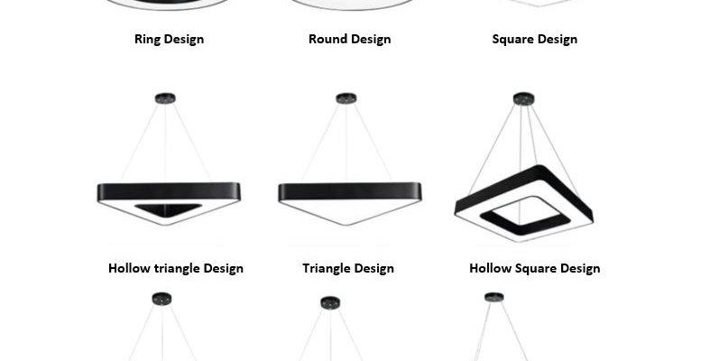 LED Various Design Pendant Light Combination