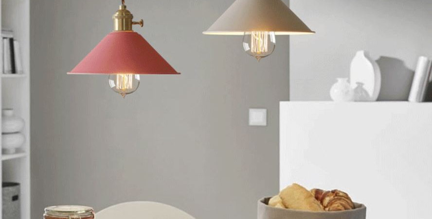 LED Metal Pedant Light with Macaron Colour