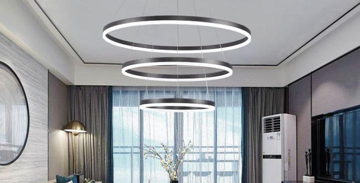 (SALE) LED Multi Halo Three Rings Pendant Light